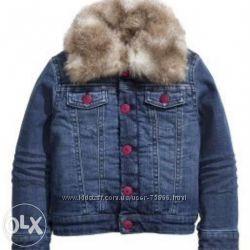 Классная, утепленная джинсовая куртка H&M