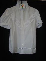 Школьная белая блузка ТМ Дана в наличии. Р. 140