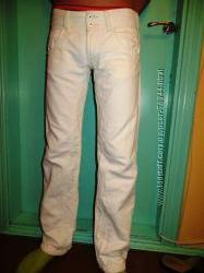 Белые Kuyichi джинсы. 27. Длина 34. 40льна, 60 коттона.