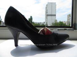 Туфли черн, кожа Tamaris Германия из Интертопа. 35, 5-36