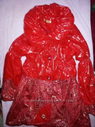 Демисезонное новое пальто на девочку р. 140-146