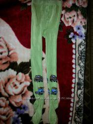 Колготки новые теплые зеленые махровые на рост 125-130