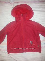 Куртка красная демисезонная на баечке