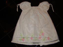 Платье  для принцессы, Miniman Франция, белое, очень нарядное, 4А, рост 102