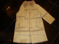 Пальто дубленка для девочки, Zara, 92-97 см, 2-3 года
