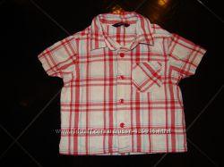 Рубашка клетка для мальчика, GEORGE, 9-12 мес
