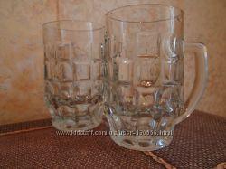 два пивных бокала хрусталь тяжелые стояли в серванте