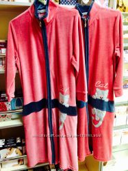 Распродажа тёплых, удобных халатов Cocoon. Махра, soft, велюр размеры S, М