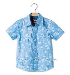 Стильная хлопковая рубашка р. 104 фирмы Palomino C&A