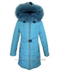 Длинное детское зимнее пальто Ника