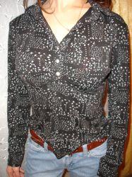 Блузка-рубашка в офис, мягкая вискоза