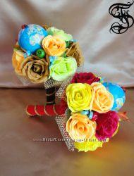 Букеты из конфет на 1 сентября, день учителя