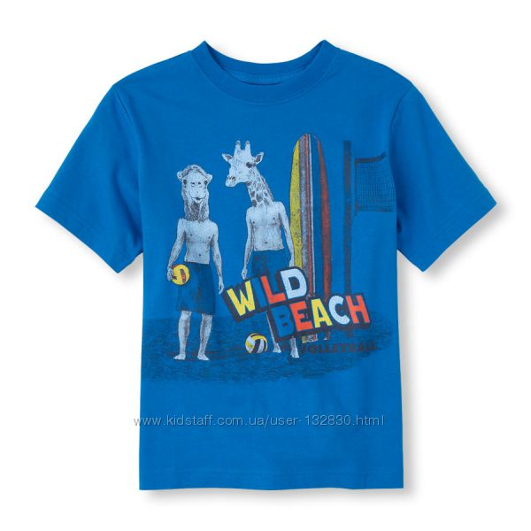 Яркие футболочки H&M CHILDRENS PLACE для мальчишек