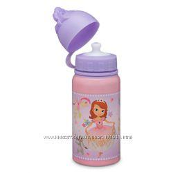 Бутылочки- непроливайки  для воды Disney Sofia, Minnie, Плюшева