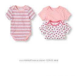 Боди для новорожденной девочки США 100 coton 0-3 мес,  3-6 мес