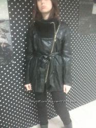 В наличии  куртки  кожзам с вязанным  воротом