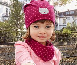 Комплект набор шапка шарф двусторонняя двойная от 1 до 8 лет Tchibo