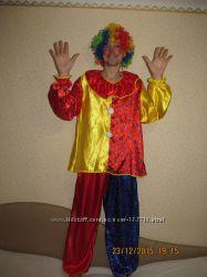 Яркий и красивый костюм Клоуна с париком. Продажа или прокат.