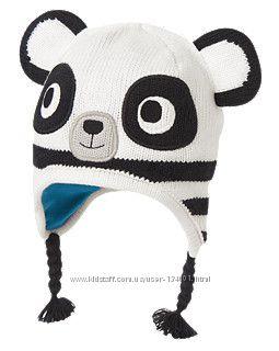 Зимняя шапочка-панда Gymboree, р-ры 12-24мес, 2-3t. В наличии.