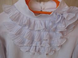 Школьная нарядная трикотажная блуза