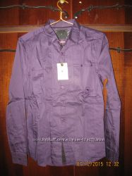 Рубашка фирменная ТМ РОЕ - размер М-46-48-темно-фиолетовая