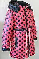 Деми куртка- пальто для девочек 104-146 в расцветках