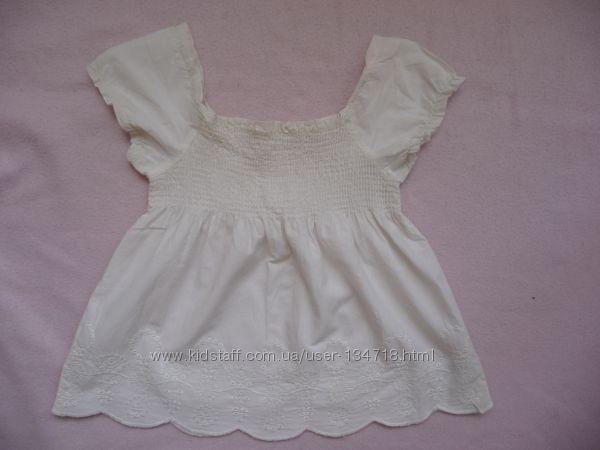 Блузка с вышивкой ришелье MOTHERCARE р. 104