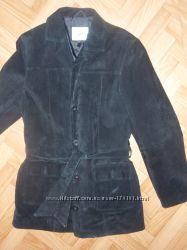 куртка черная ЗАМШ Keenan Leather