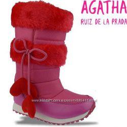 Супер цена. Новые зимние сапожки AGATHA RUIZ DE LA PRADA, Испания, 27-30рр