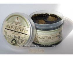 Мыло Рецепты бабушки Агафьи Натуральное сибирское для бани Черное  500мл