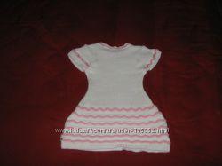 Белое вязанное платье для девочки