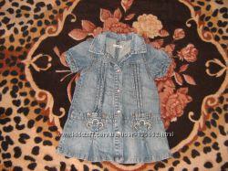 Сарафан джинсовый на кнопках, 92-98 см