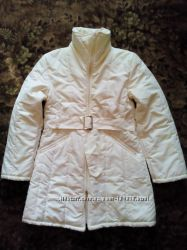Женская демисезонная удлиненная куртка кремового цвета, цена снижена