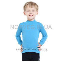 Детские водолазки из нежной шерсти Norveg Soft голубые, серые и розовые