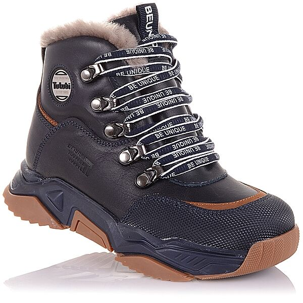 Спортивные зимние ботинки на шнурках и молнии  для мальчиков 31-36 р-р 11.4.396