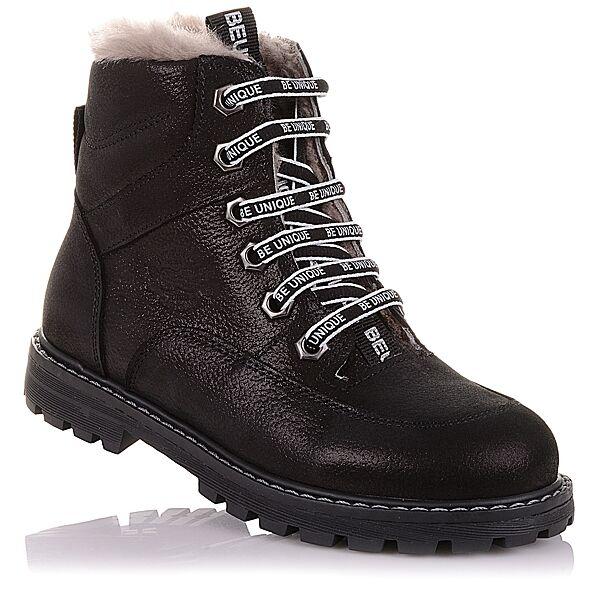 Зимние ботинки из нубука на шнурках и молнии  для девочек 31-36 р-р 11.4.395