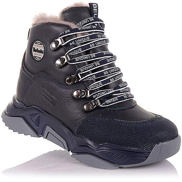 Спортивные зимние ботинки на шнурках и молнии  для мальчиков 31-36 р-р 11.4.391