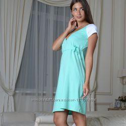 Ночнушка для кормящих и беременных мам на завязки