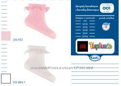 Носочки для девочек TUPTUSIE, Польша, самым маленьким р. 7-9, 10-12