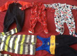 Флисовые человечки для малыша, поддева Carters, Early days и другие.