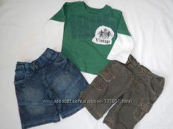 штаники Mini mode 0-3 мес с вельветовыми накладными кармашками