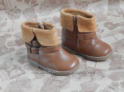 Кожаные сапожки Zara