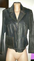 40р- кожа нубуковая куртка HIS состояние новой