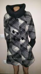 англ 12, евро 40-42 шерсть, мохер стильное пальто Easycomfort  usa 10 uk12