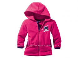 Теплая розовая флисовая кофточка от LUPILU для девочки 5-6 лет