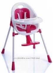 Стульчик для кормления BabyPoint высокий, безколес , есть вкладыш и ремни .