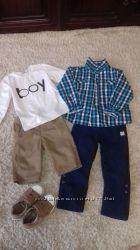 шорты, брючки, рубашка мальчику 4-5 лет