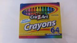 Карандаши Crayola, набор 64 шт с точилкой