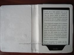 Белая обложка чехол на электронную книгу Amazon Kindle Paperwhite или Touch