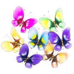 Украшения для штор бабочки, стрекозы, фрукты и др.